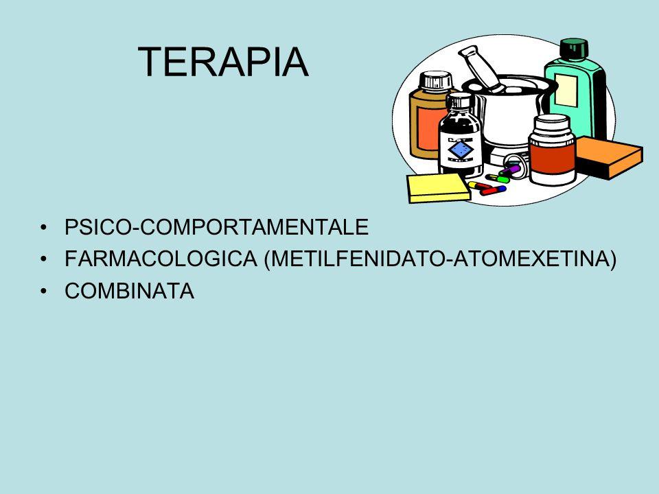 TERAPIA PSICO-COMPORTAMENTALE FARMACOLOGICA (METILFENIDATO-ATOMEXETINA) COMBINATA