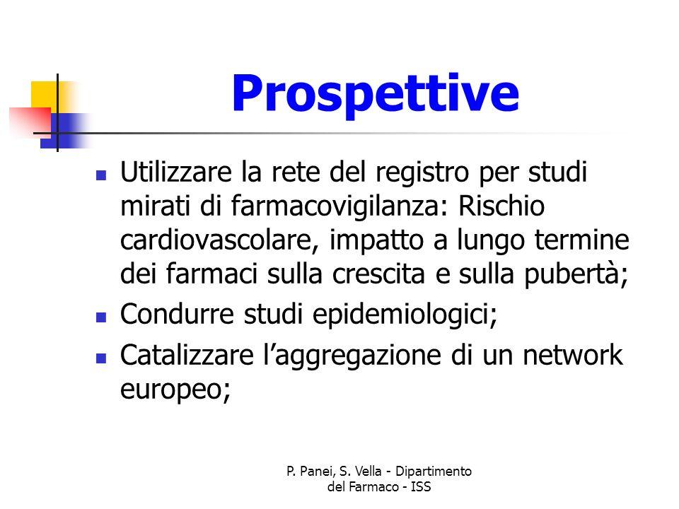 P. Panei, S. Vella - Dipartimento del Farmaco - ISS Prospettive Utilizzare la rete del registro per studi mirati di farmacovigilanza: Rischio cardiova