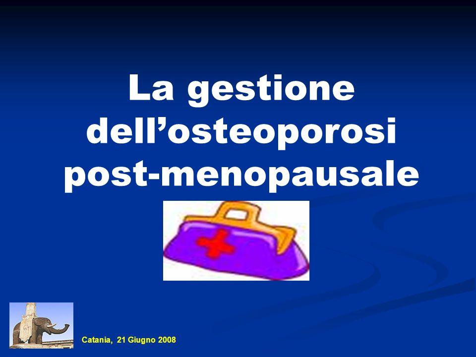 La gestione dellosteoporosi post-menopausale Catania, 21 Giugno 2008