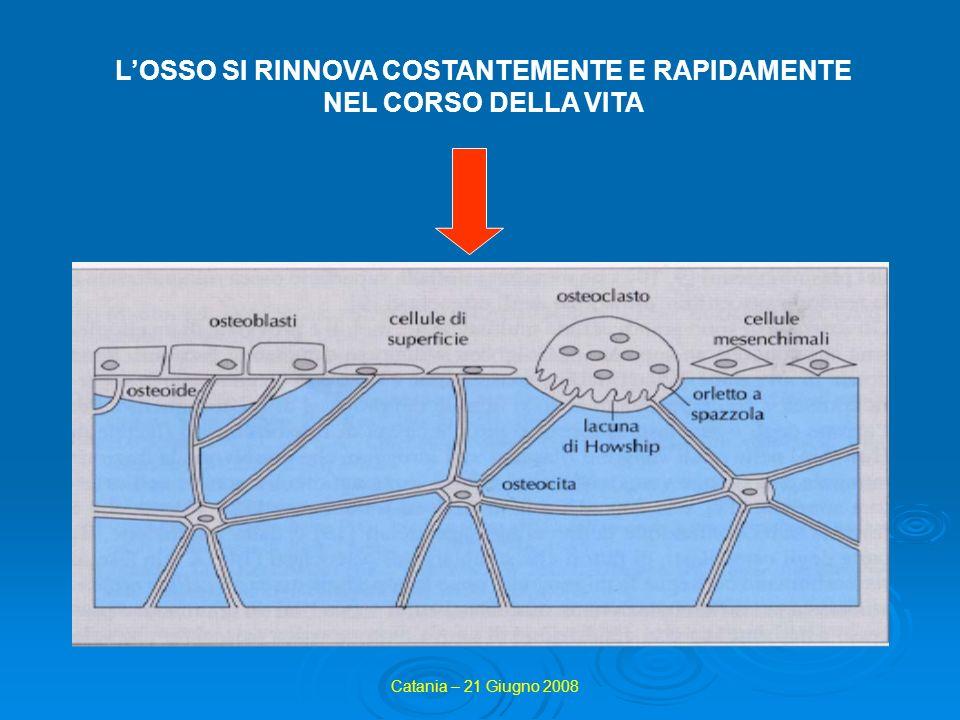 Concetto importante: PICCO DI MASSA OSSEA cioè il valore massimo di densità ossea che un soggetto raggiunge nel corso della propria vita Catania – 21 Giugno 2008