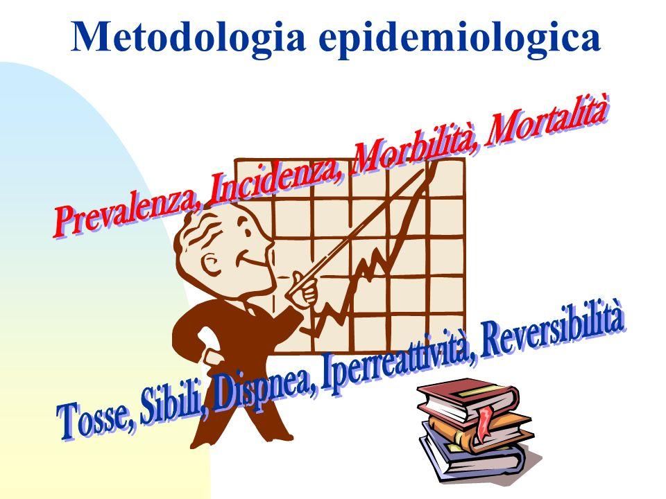 Metodi per studiare la prevalenza dellAsma Questionari standardizzati Monitoraggio del picco di flusso espiratorio (PEF) Test di iperreattività bronchiale