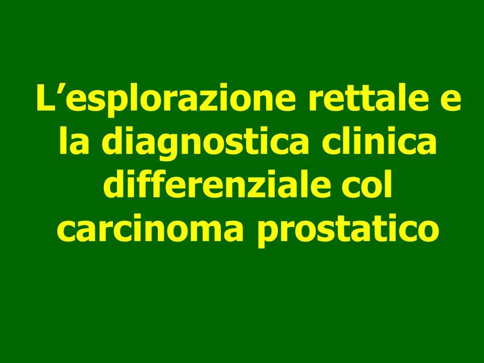 Lesplorazione rettale e la diagnostica clinica differenziale col carcinoma prostatico