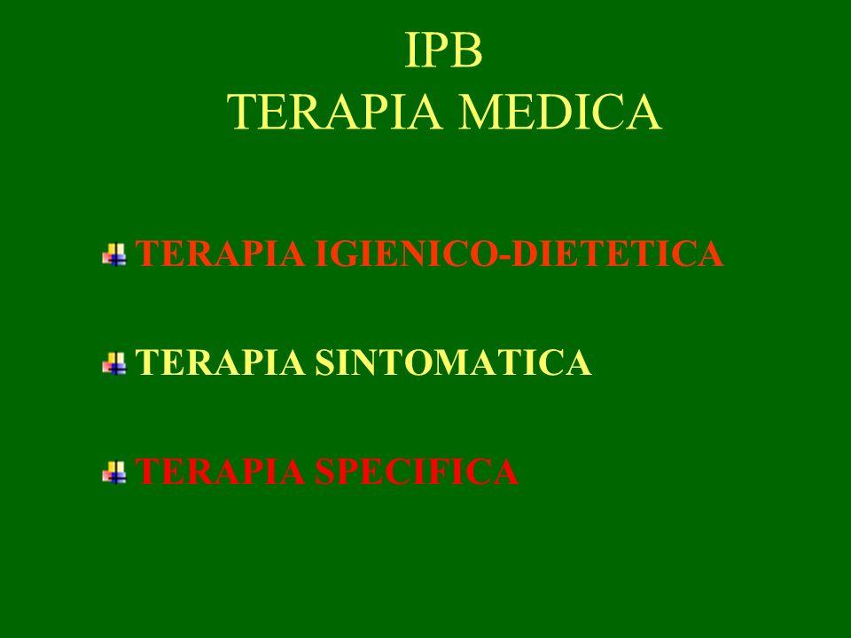 IPB TERAPIA MEDICA TERAPIA IGIENICO-DIETETICA TERAPIA SINTOMATICA TERAPIA SPECIFICA