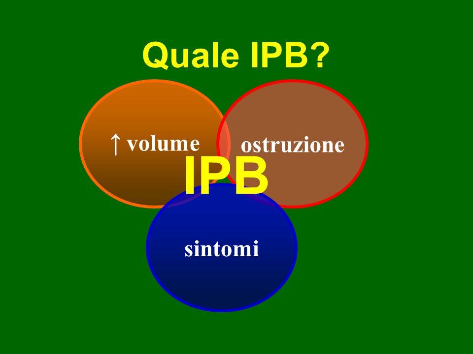 Epidemiologia della IPB istologica 50 anni ………….50% 80 anni ………….90% la IPB istologica non necessariamente si associa a IPB clinica