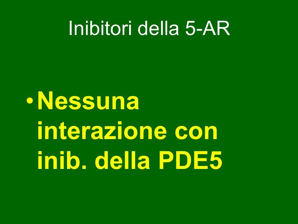 Inibitori della 5-AR Nessuna interazione con inib. della PDE5