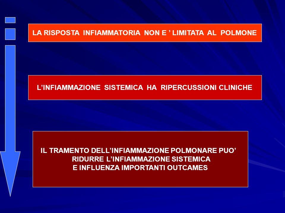 LA RISPOSTA INFIAMMATORIA NON E LIMITATA AL POLMONE LINFIAMMAZIONE SISTEMICA HA RIPERCUSSIONI CLINICHE IL TRAMENTO DELLINFIAMMAZIONE POLMONARE PUO RID