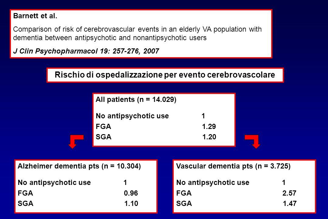 Barnett et al. Comparison of risk of cerebrovascular events in an elderly VA population with dementia between antipsychotic and nonantipsychotic users