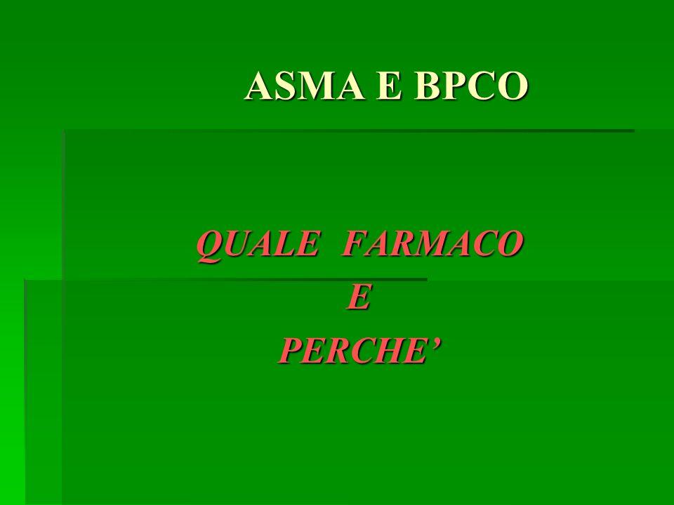 ASMA E BPCO ASMA E BPCO QUALE FARMACO EPERCHE
