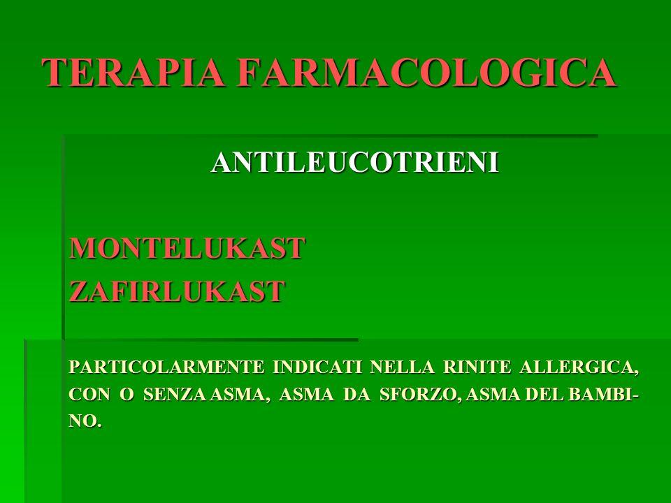 TERAPIA FARMACOLOGICA ANTICORPI ANTI-Ig E OMALIZUMAB: ANTICORPO MONOCLONALE SINTETICO CHE IMPEDISCE ALLE Ig E DI LE- GARSI AI MASTOCITI.