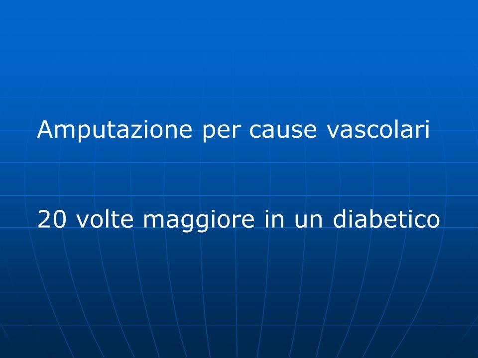 Amputazione per cause vascolari 20 volte maggiore in un diabetico
