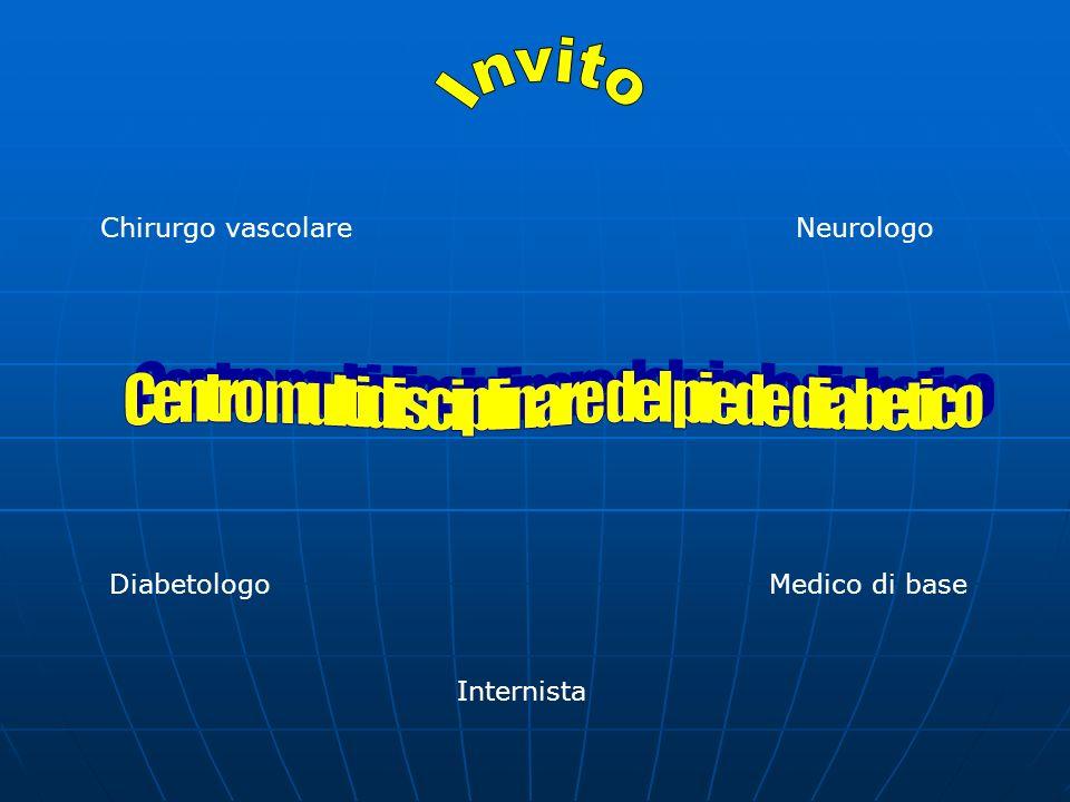 Chirurgo vascolareNeurologo Internista DiabetologoMedico di base