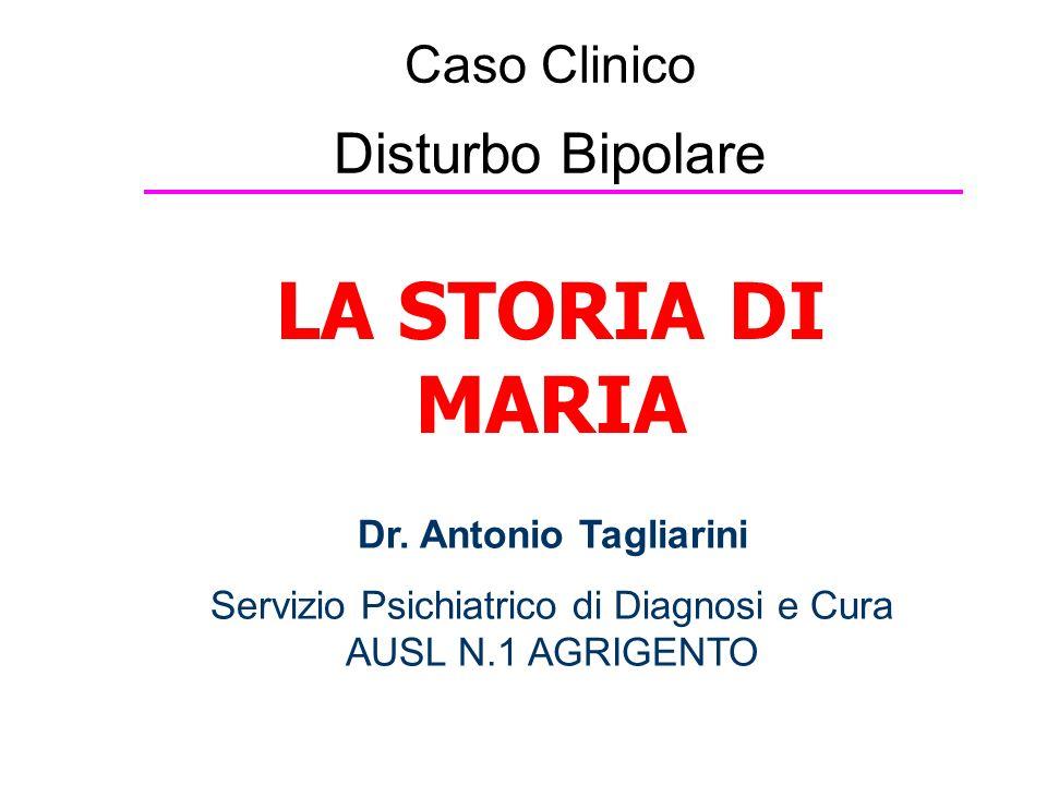 Caso Clinico Disturbo Bipolare LA STORIA DI MARIA Dr.