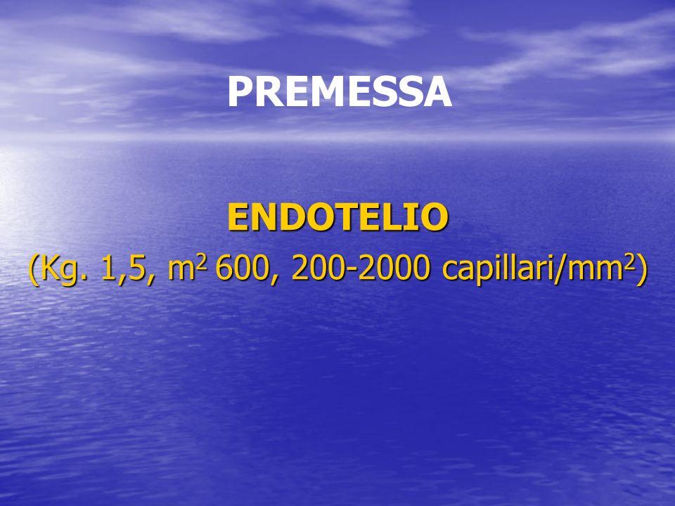 ENDOTELIO (Kg. 1,5, m 2 600, 200-2000 capillari/mm 2 ) PREMESSA