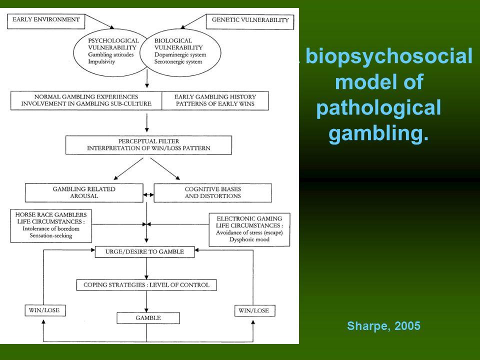 A biopsychosocial model of pathological gambling. Sharpe, 2005