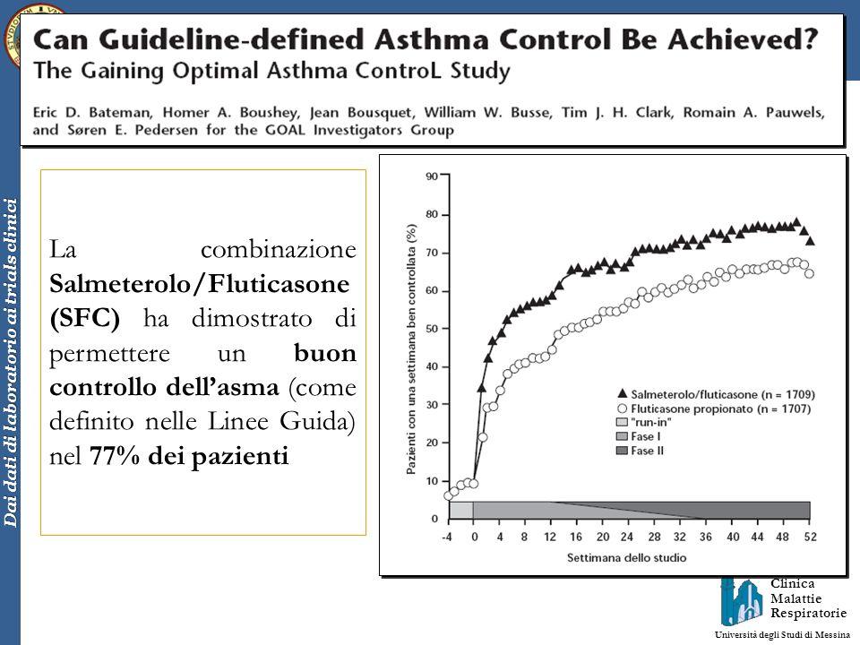 Clinica Malattie Respiratorie Università degli Studi di Messina Dai dati di laboratorio ai trials clinici La combinazione Salmeterolo/Fluticasone (SFC