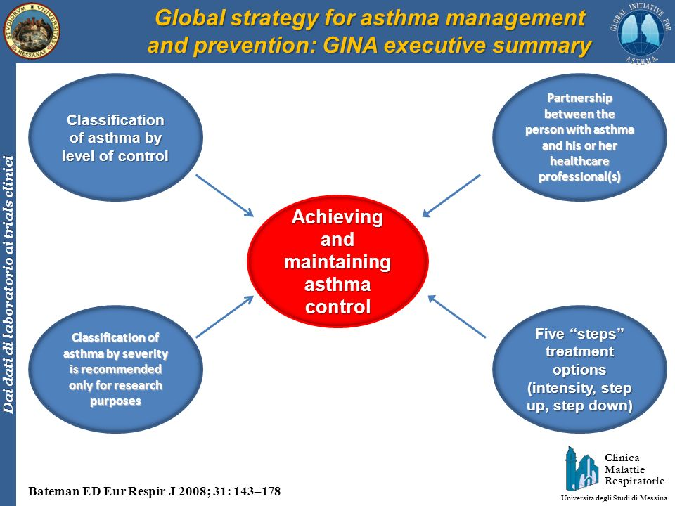 Clinica Malattie Respiratorie Università degli Studi di Messina Dai dati di laboratorio ai trials clinici Factors limiting airflow in acute and persistent asthma Holgate ST, Polosa R.