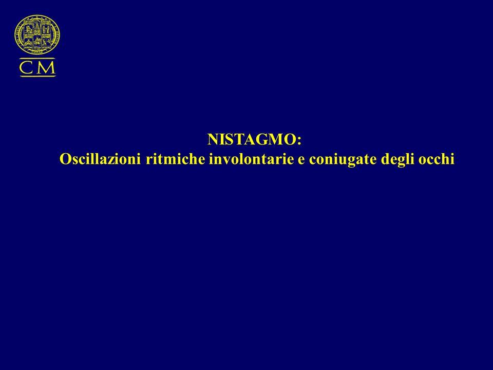 NISTAGMO: -fisiologico -patologico