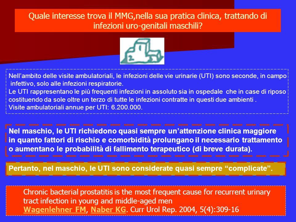 Quale interesse trova il MMG,nella sua pratica clinica, trattando di infezioni uro-genitali maschili? Nellambito delle visite ambulatoriali, le infezi