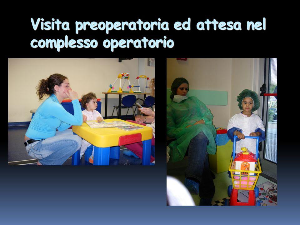 Visita preoperatoria ed attesa nel complesso operatorio