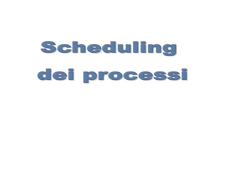 PPolitiche di scheduling SJF: Shortest Job First La CPU è assegnata al processo, tra quelli in stato di pronto, il cui intervallo di tempo previsto per lutilizzo della CPU è più breve (tempo di servizio più piccolo).
