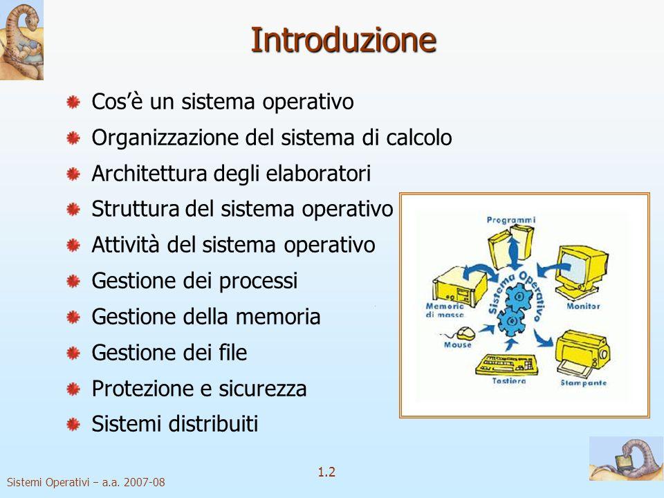 1.2 Sistemi Operativi a.a.