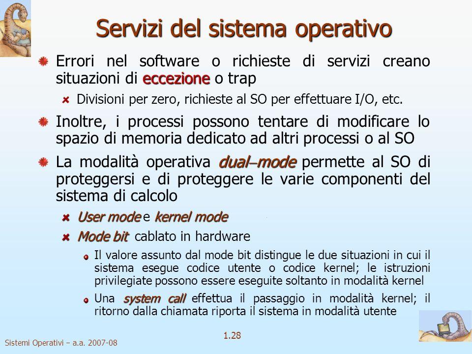 1.28 Sistemi Operativi a.a.