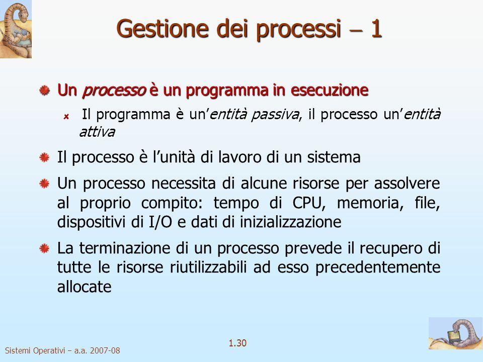 1.30 Sistemi Operativi a.a.