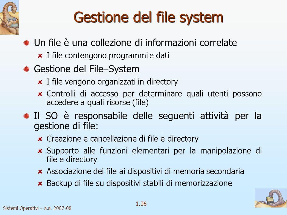 1.36 Sistemi Operativi a.a.