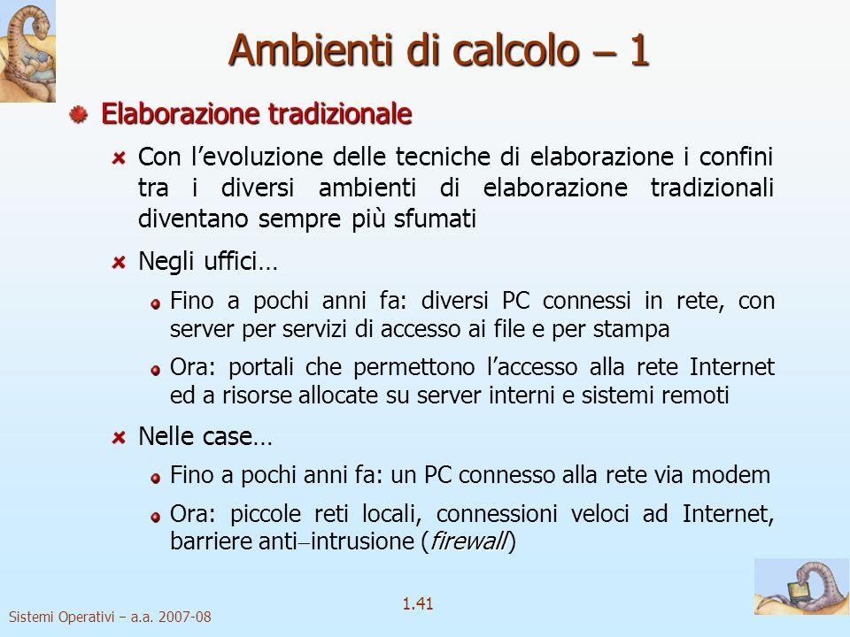 1.41 Sistemi Operativi a.a.