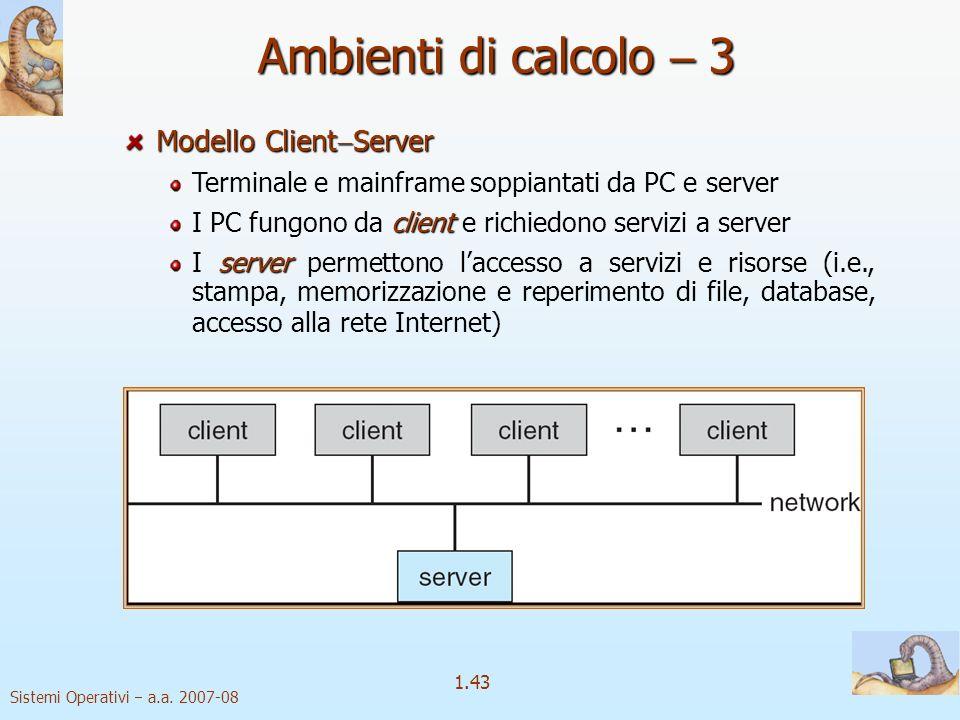 1.43 Sistemi Operativi a.a.