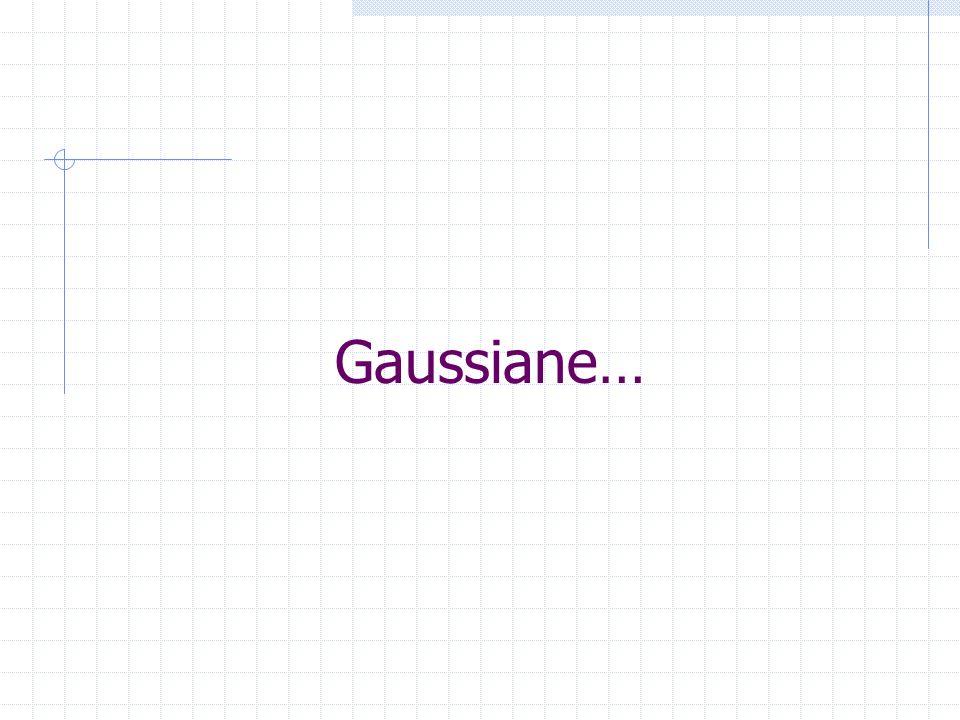 Gaussiane…