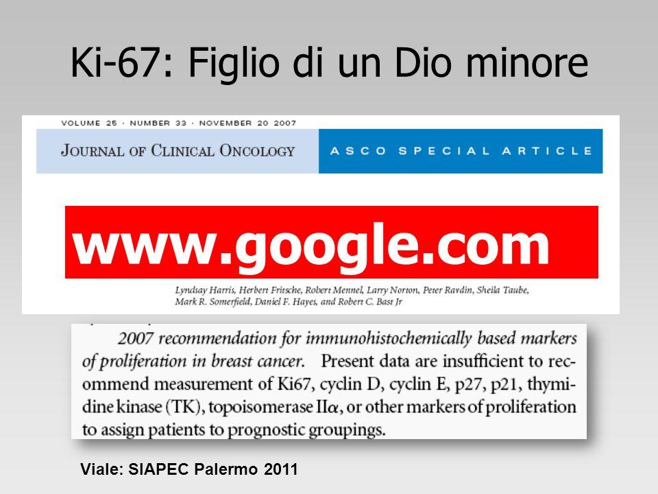Ki-67: Figlio di un Dio minore www.google.com Viale: SIAPEC Palermo 2011