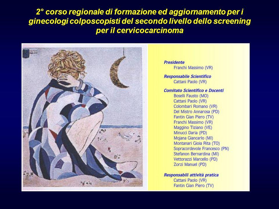 2° corso regionale di formazione ed aggiornamento per i ginecologi colposcopisti del secondo livello dello screening per il cervicocarcinoma