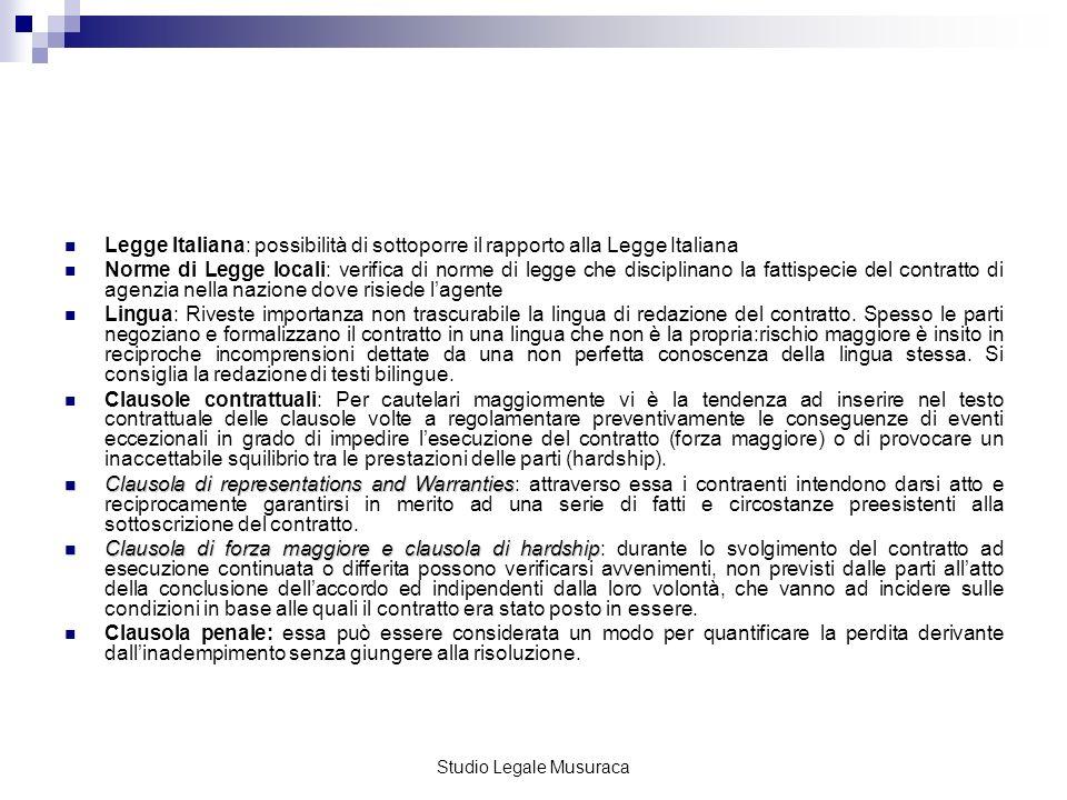 Studio Legale Musuraca Il contratto di JV disciplina altresì i profili di responsabilità: - resp.