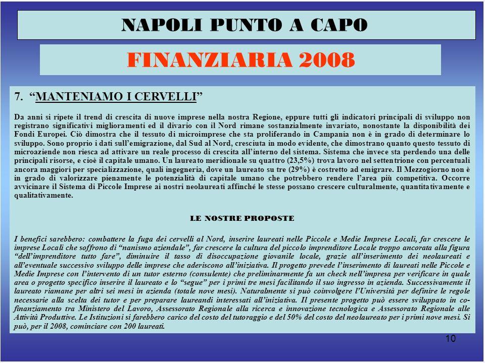 10 NAPOLI PUNTO A CAPO FINANZIARIA 2008 7.