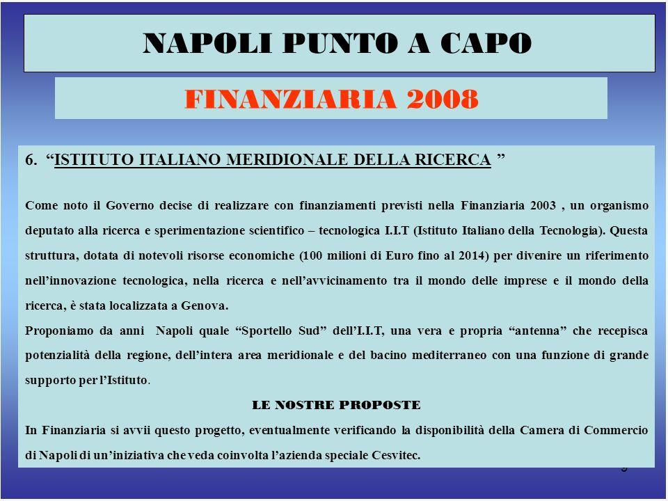 9 NAPOLI PUNTO A CAPO FINANZIARIA 2008 6.