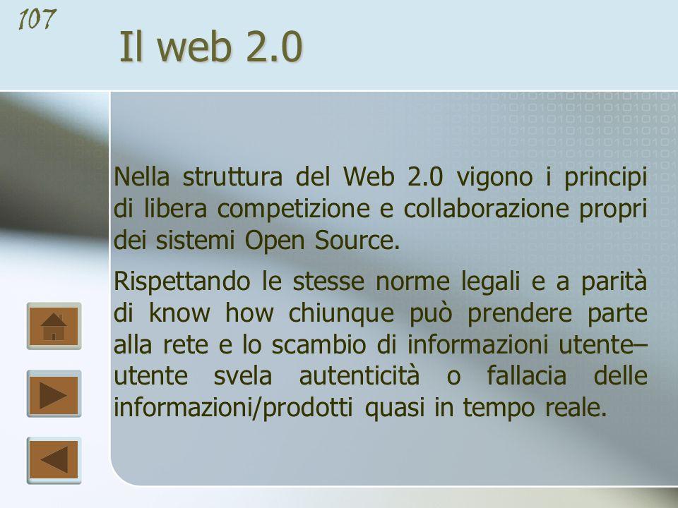 106 Il web 2.0 webtop Altra applicazione del Web 2.0 sono i cosiddetti web desktop (o webtop), una sorta di sistema operativo online su cui è possibile eseguire operazioni simili a quelle di un sistema operativo tradizionale.