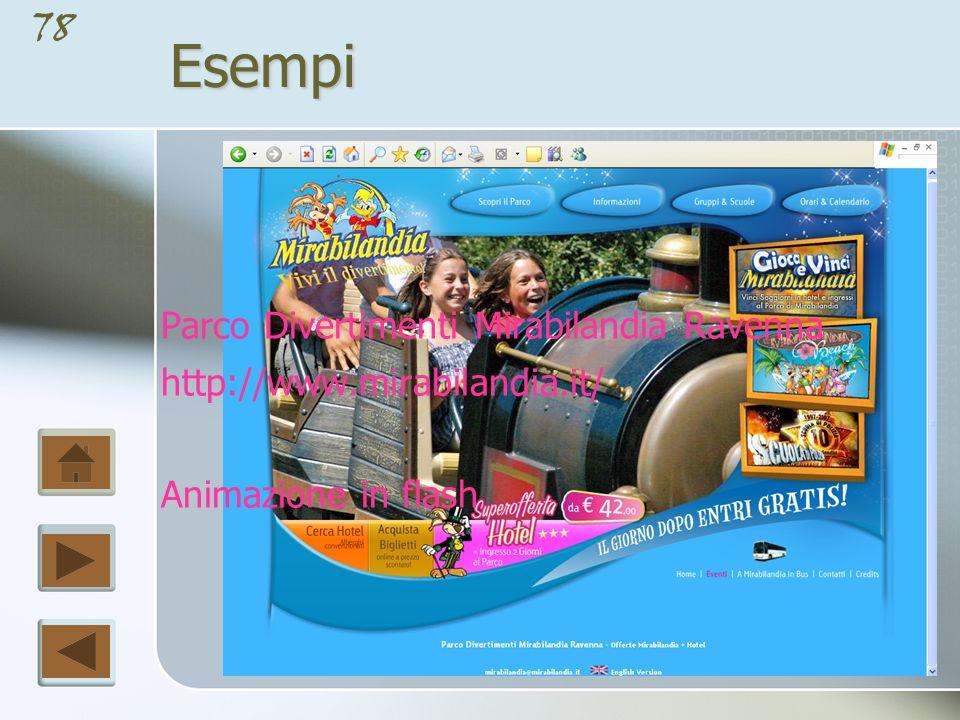 77Esempi Ministero della Pubblica Istruzione http://www.pubblica.istruzione.it/ Layout fisso a tre colonne