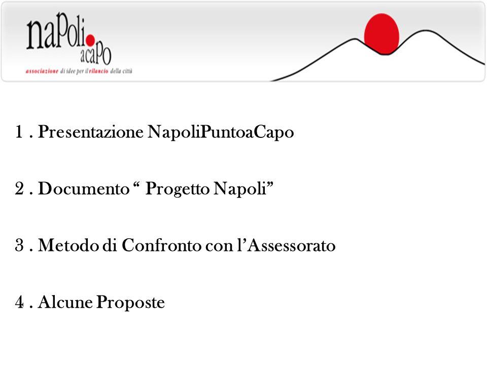 1. Presentazione NapoliPuntoaCapo 2. Documento Progetto Napoli 3.