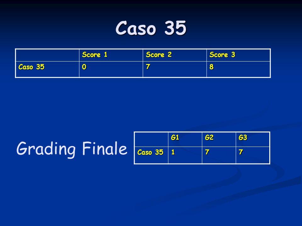 Caso 35 Score 1 Score 2 Score 3 Caso 35 078 G1G2G3 177 Grading Finale