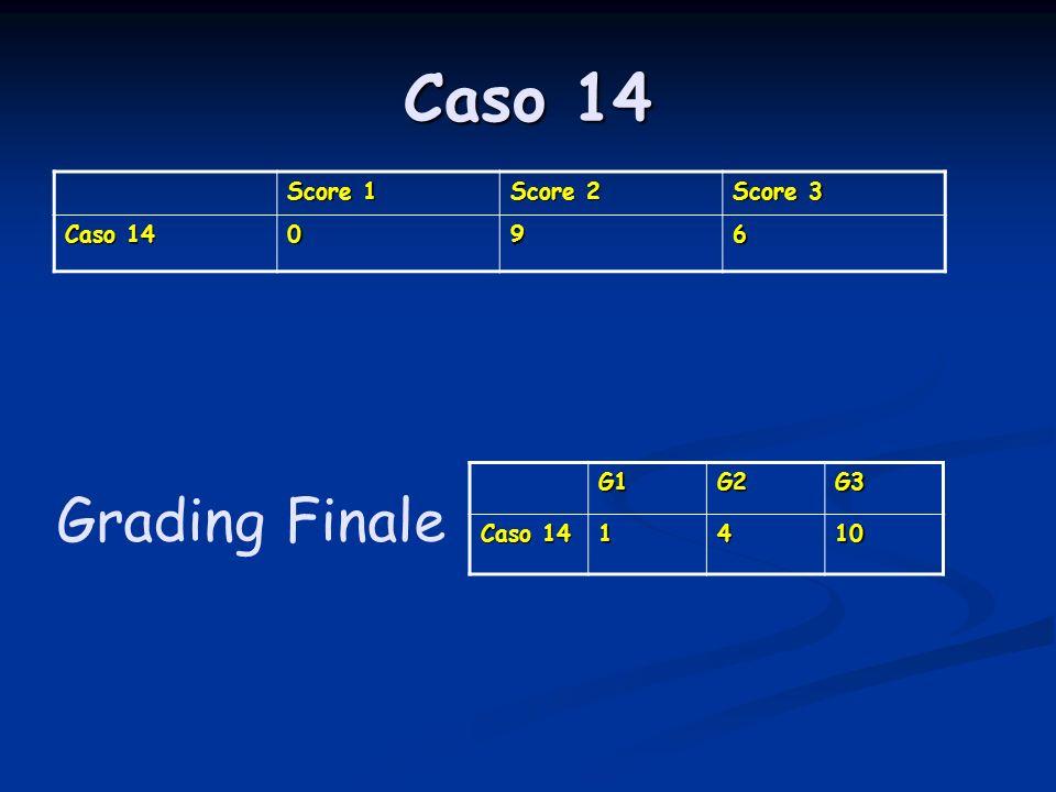 Caso 14 Score 1 Score 2 Score 3 Caso 14 096 G1G2G3 1410 Grading Finale