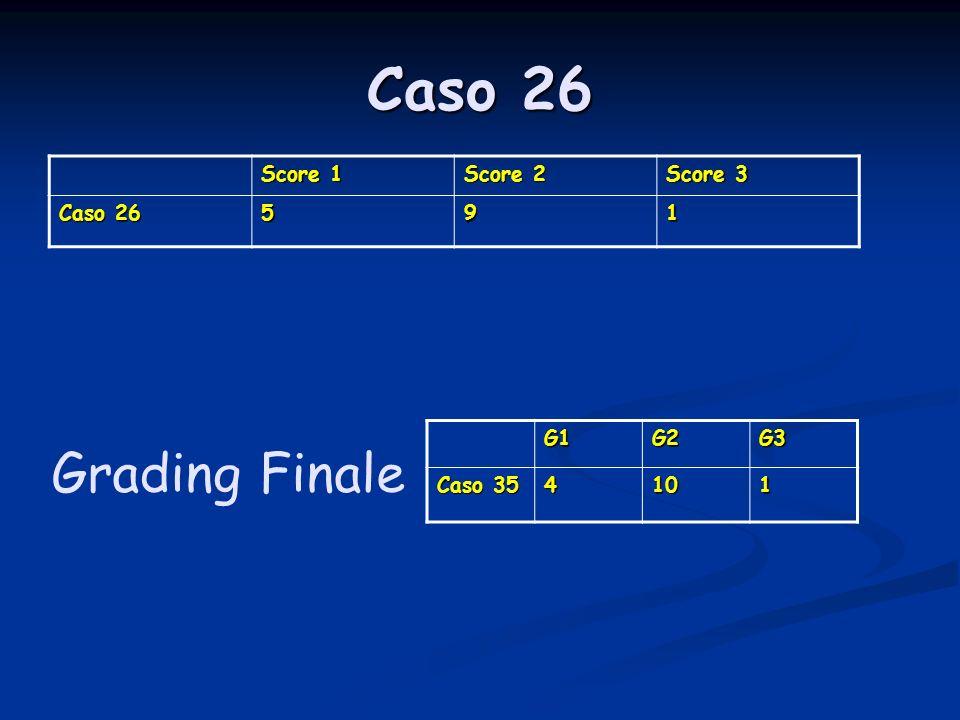 Caso 26 Score 1 Score 2 Score 3 Caso 26 591 G1G2G3 Caso 35 4101 Grading Finale