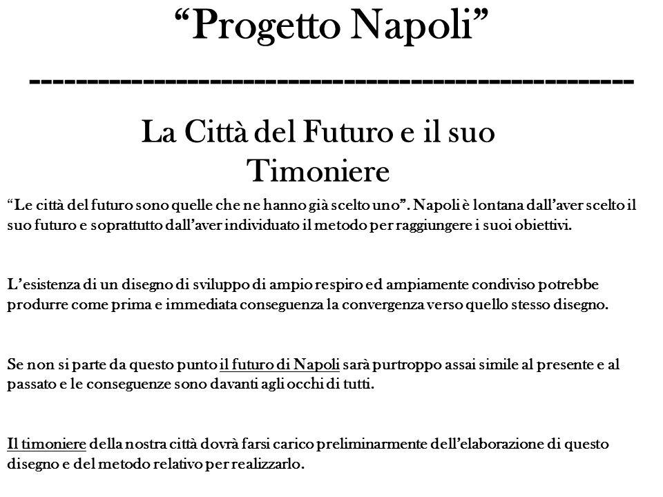 Progetto Napoli ------------------------------------------------------ La Città del Futuro e il suo Timoniere Le città del futuro sono quelle che ne hanno già scelto uno.