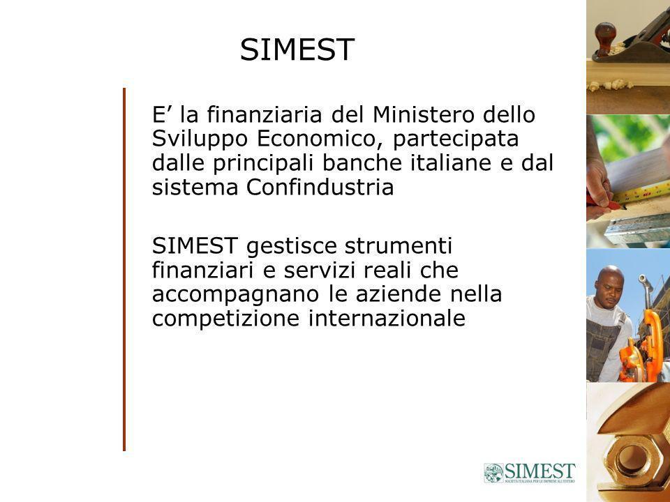 L 100/90 - INVESTIMENTI PRODUTTIVI ALLESTERO SOCIETA ITALIANA BANCA SIMEST SOCIETA ESTERA PARTECIPAZ FINO 49% PARTECIPAZ p.es.