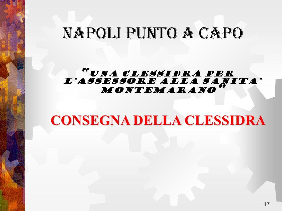 17 una Clessidra per lAssessore alla Sanita Montemarano CONSEGNA DELLA CLESSIDRA NAPOLI PUNTO A CAPO