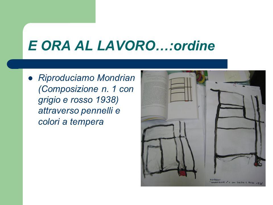 E ORA AL LAVORO…:ordine Riproduciamo Mondrian (Composizione n.