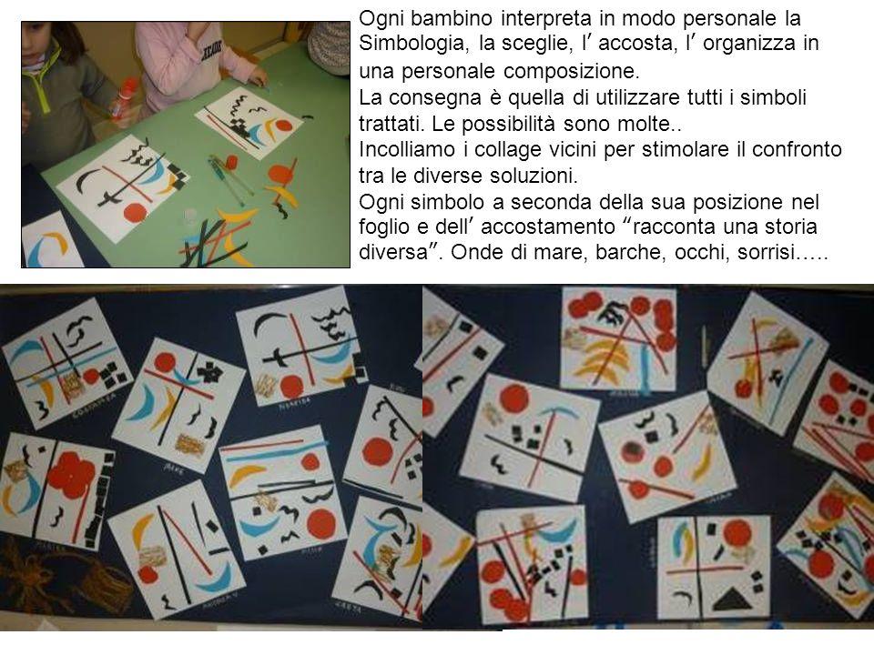 Ogni bambino interpreta in modo personale la Simbologia, la sceglie, l accosta, l organizza in una personale composizione. La consegna è quella di uti