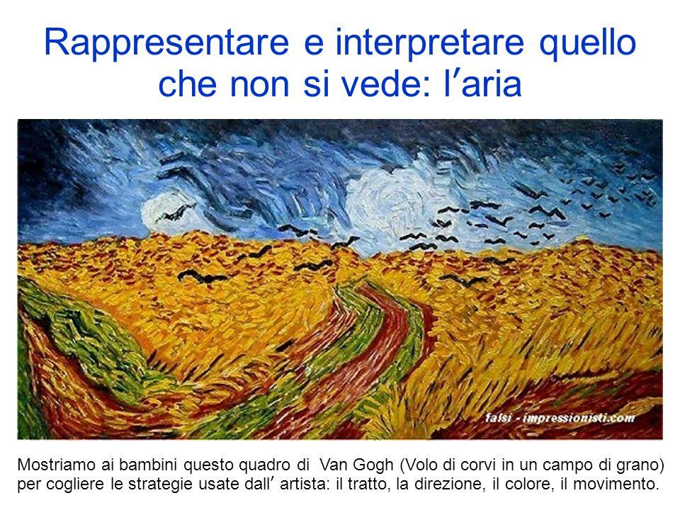 Rappresentare e interpretare quello che non si vede: laria Mostriamo ai bambini questo quadro di Van Gogh (Volo di corvi in un campo di grano) per cog