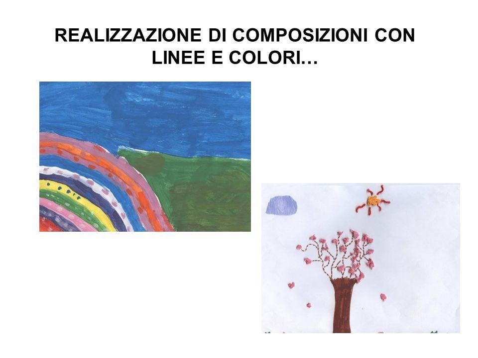Abbiamo creato le nostre composizioni utilizzando le forme usate da Kandinsky nellopera VERSO LALTO IL PESCE PALLA IL PESCE DELLE TENEBRE