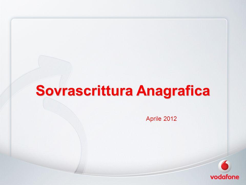 Sovrascrittura Anagrafica Aprile 2012